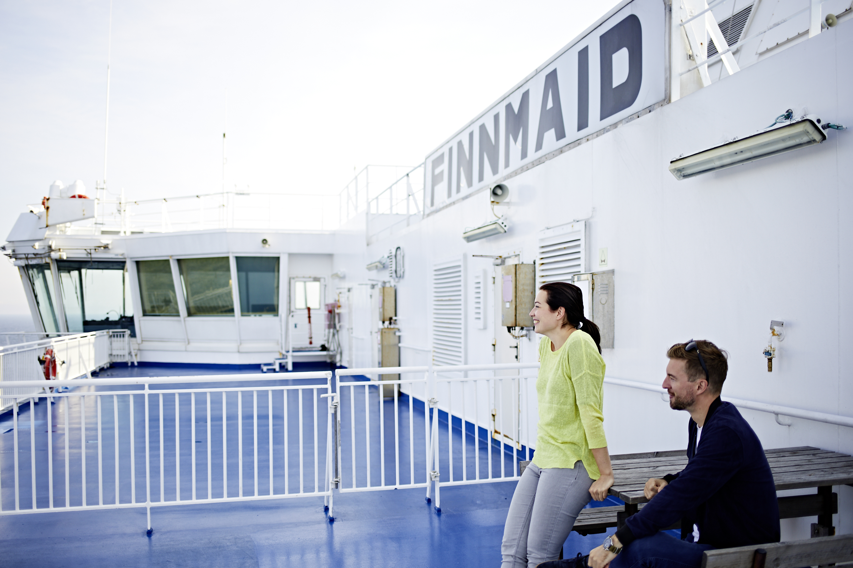 Finnlines an Deck