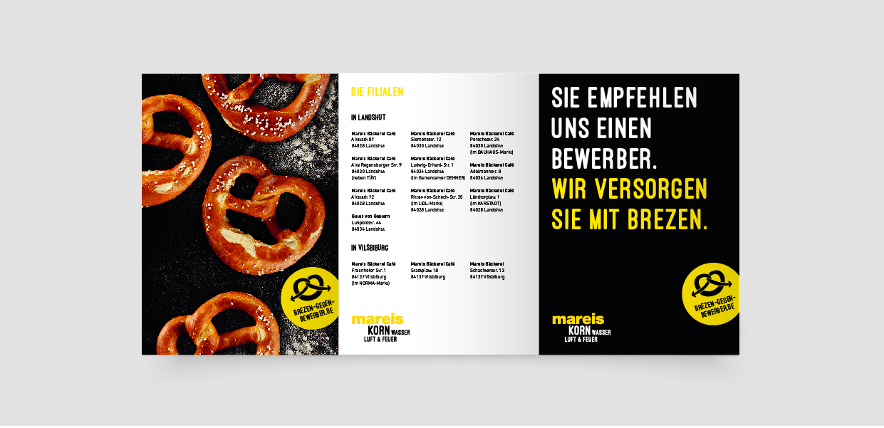 Flyer Bäckerei Kampagne