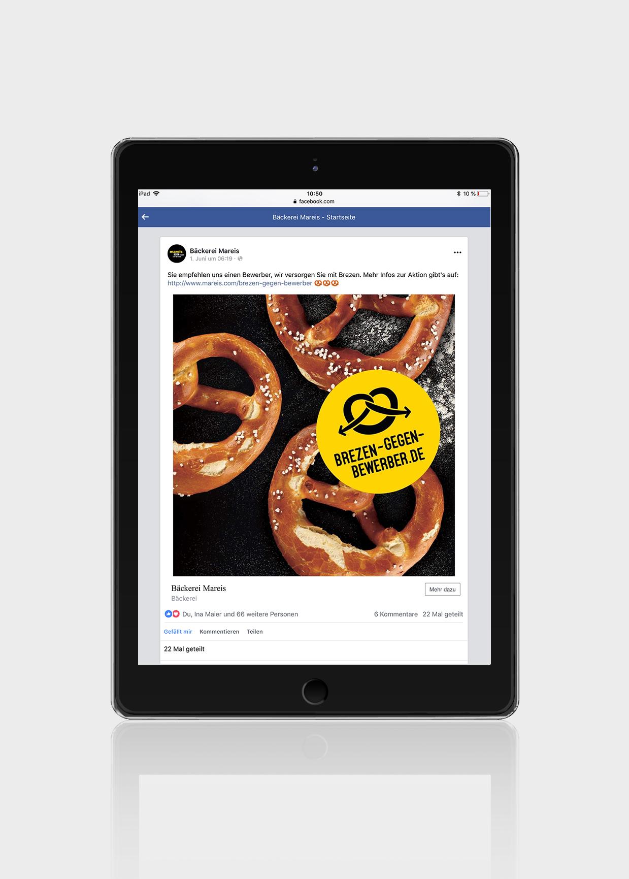 Bäckerei Kampagne Mikrosite ipad