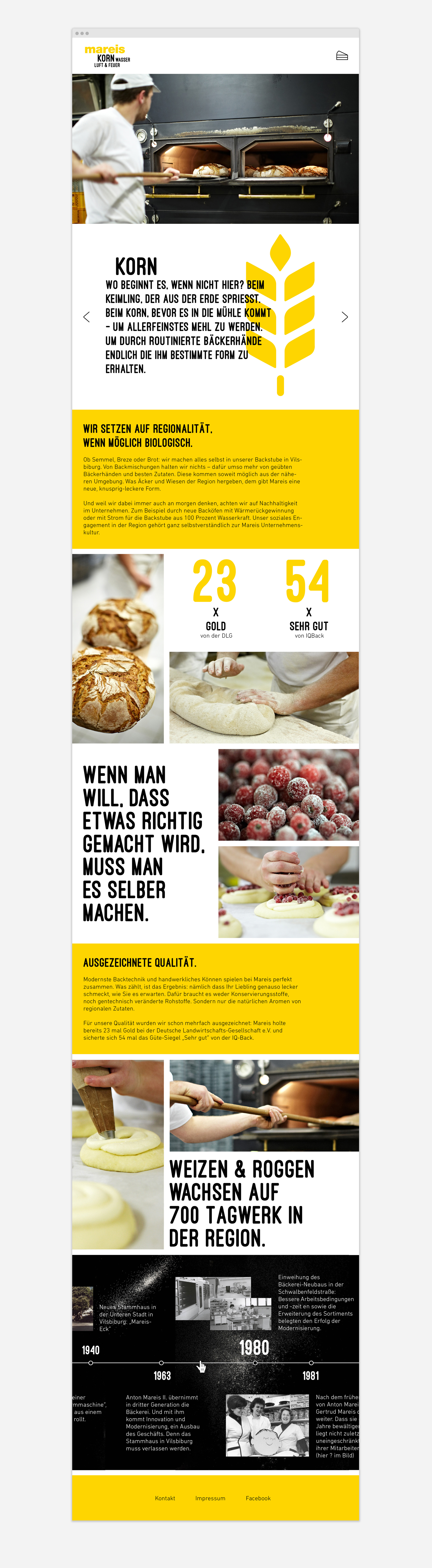 Website Strang Bäckerei Mareis