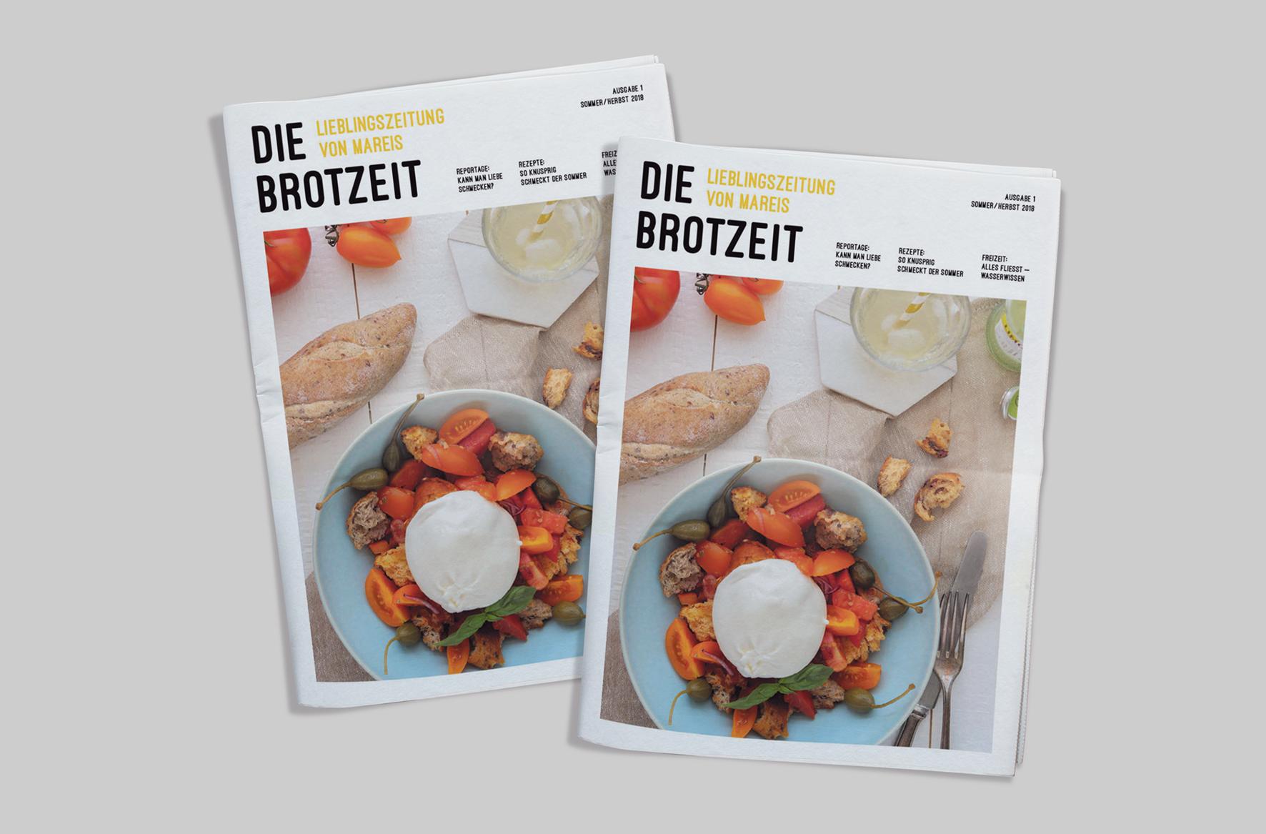 Kundenzeitung Bäckerei Mareis Cover