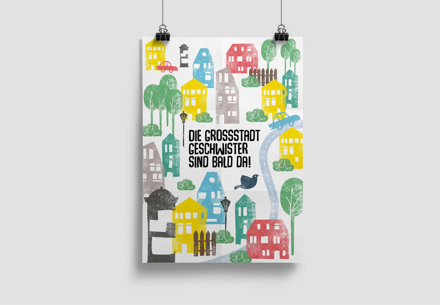 Plakat Grossstadtgeschwister Kita